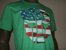 New Men's Large Green Transformers Autobots US Flag Robot Face Symbol Logo Shirt