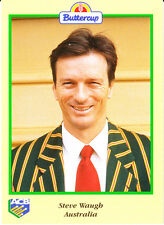 BUTTERCUP 1995 STEVE WAUGH CARD Portrait AUSTRALIA ACB Australian Cricket Board