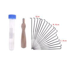 18x 3 Größen Nadeln Wolle Filzen Nadeln Handwerk Filz Werkzeug mit Flasche JM