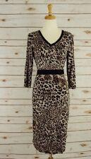 Robert Rodriguez Brown Leopard Dress, Size 10 NWT