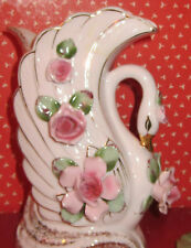 """L'AMOUR SWAN VASE>MADE IN JAPAN>ANENTERPRISE EXCLUSIVES>7"""""""