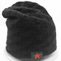 Mens Ladies Knitted Woolly Winter Oversized Slouch Beanie Hat Cap Skateboard Hat