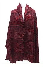 Red and Black Plaid Oversize Shawl