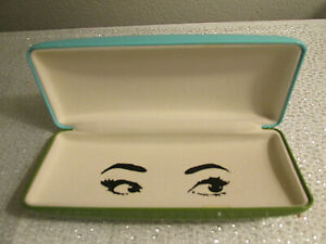 KATE SPADE EYEGLASSES SUNGLASSES CASE TURQUOISE BLUE & GREEN CLAMSHELL SEXY EYES