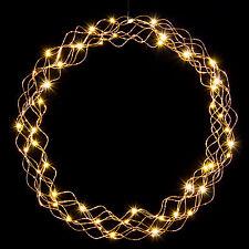 LED Kranz Lichterkranz Türkranz Adventskranz 50cm kaltweiß oder warmweiße LED`s