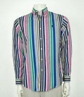 Polo Ralph Lauren Custom Fit Wild Striped Button Shirt Mens Medium