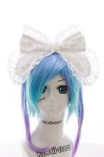LH-06-2 Weiß Riesen XXL Schleife Gothic Lolita Haarreif Headband Cosplay Maid