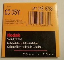 """KODAK COLOR COMPENSATING FILTER NO. CC05Y 3"""" or 75mm Square New Old Stock"""