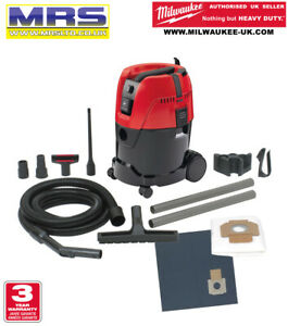 MILWAUKEE AS2-250ELCP 25L WET/DRY DUST EXTRACTOR + ATTACHMENTS - 4933447490