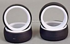 RC 1/10 DRIFT TIRE Package W/ COLOR RINGS - WHITE -