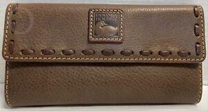 NWT*Dooney & Bourke*ELEPHANT* Florentine Leather CHECKBOOK Clutch WALLET