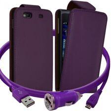 Housse Coque Etui pour Samsung Wave 3 + Chargeur Auto Couleur Violet