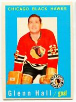 1959/60 Topps Glenn Hall Card #32 Chicago Black Hawks
