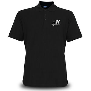 Genuine Suzuki Hayabusa Bike Racing Motocycle Streetwear Black Men Polo T-shirt