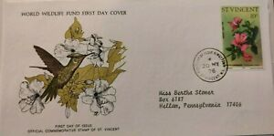 The International Collection of World Wildlife FDC - The Purple Throated Carib