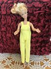 Barbie Doll size Adorable Yellow Overalls Too Cute GUC *Free gift