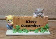 Kitty Cucumber Sign Store Dealer Display Schmid Porcelain 1987