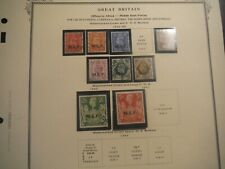 Wpphil Great Britain Stamps Used Collection of Offices Overseas Scv $279.00
