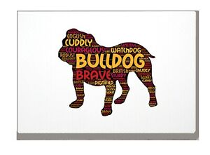 Bulldog Art Print Bulldog Word Art A4 A3 Mothers Day Gift Personalised Option