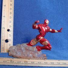"RED IRON MAN 3"" Running Figure Base GC Avengers Assemble Disney Marvel Gold '11"