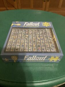 USAopoly Vault-Tec Fallout 4 Perk Poster Puzzle RARE! RETIRED!