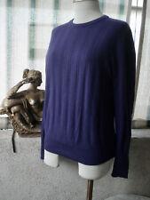 Vintage 1970's Paris, ANDRE COURREGES Ribbed Sweater, Navy Royal Blue L