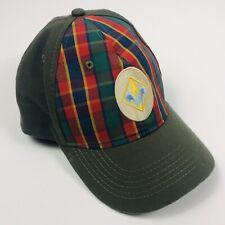 Vintage Cubs Scouts Hat Webelos Twill Size S/M Flex Green Plaid Fleur de Lis