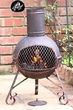 Lexie Small Steel chimenea 70cm high garden patio heater fire woodburner