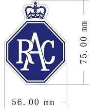 PAIR of Royal Automobile Club Badge peel-off vinyl stickers / decals (ff)