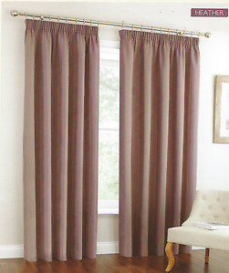 """90""""x 90"""" LILAC/HEATHER OXFORD JACQUARD STRIPE LINED CURTAINS"""