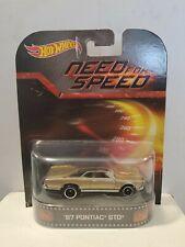 Hot Wheels Retro Entertainment New Need For Speed 1967 Pontiac Gto Htf Gm 2013
