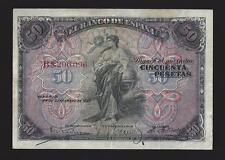 F.C. 50 PESETAS  1906, SERIE B. MBC-, MARGENES SUCIOS.