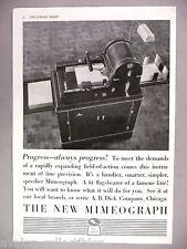 Mimeograph Copy Machine PRINT AD - 1937 ~~ A.B. Dick, mimeo