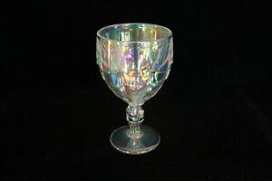 VINTAGE LE NCC CAMBRIDGE CLEAR CARNIVAL GLASS 1994 CASCADE GOBLET MOSSER GLASS