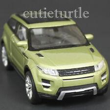 "4.5"" Welly  Land Rover Range Rover Evoque SUV Diecast Toy Car Green"