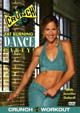 CRUNCH FITNESS FAT BURNING DANCE PARTY EXERCISE DVD NEW JENNIFER GALARDI WORKOUT