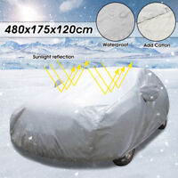 2 Layer Heavy Duty Waterproof Full Car Cover Cotton Anti UV Scratch Large L