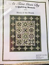 """NEW Keepsake Quilting *As Time Goes By"""" Block Of Month Quilt Kit Quilting Sewing"""