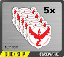 Pokemon Go Vinyl Decal JDM Car Sticker Team Valor Red Fire Moltres Logo PG11 x5