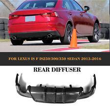 Carbon Fiber Rear Bumper Diffuser Lip Fit for LEXUS IS-F SPORT BUMPER 2013-2016