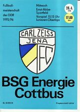 OL 75/76  FC Carl Zeiss Jena - BSG Energie Cottbus