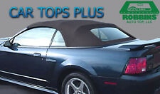 """1994-04 Ford Mustang/Cobra Black Cloth Convertible Top & Defrost Glass """"Robbins"""""""