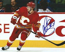 **GFA Calgary Flames *SVEN BAERTSCHI* Signed 8x10 Photo S2 COA**