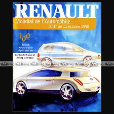 RENAULT ★ MONDIAL DE L'AUTO 1998 ★ CATALOGUE, HISTOIRE, MECANIQUE, PHOTOS ...