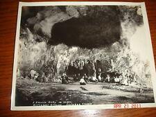 c1915 ANTIQUE DAVIS MASONIC PHOTO CARLSBAD CAVERNS NM MASON MEETING CAVE