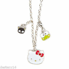 Hello Kitty 40th Anniversary Charm Pendant Necklace Keroppi Chococat Sanrio NWT