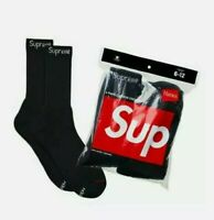 Supreme Black With White Supreme Label Socks (ONE PAIR SINGLES) 100% Authentic