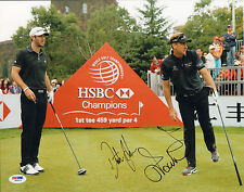 IAN POULTER SIGNED AUTO'D 11X14 PHOTO PSA/DNA V60672 DUSTIN JOHNSON RYDER CUP