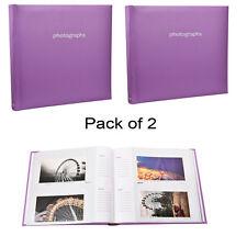 2X Large 5 x 7 Slip In Case  Memo Photo Album For 120 Holds Purple AL-9141-2PK