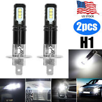 2X H1 Fog Light LED Headlight Conversion 110W 12000LM Low Beam Bulb 6000K White
